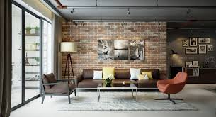 Briques Parement Interieur Blanc Accueil Design Et Mobilier Le Salon En Brique Stylisé En 35 Exemples à Vous Faire Partager