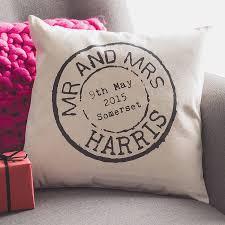 wedding gift australia personalised wedding st cushion by tillyanna