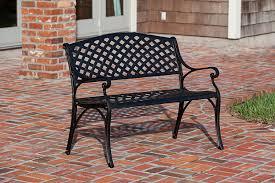 Sams Patio Heater by Amazon Com Patio Sense Antique Bronze Cast Aluminum Patio Bench