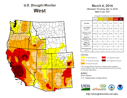 Southwest Usa Map by Drought February 2014 State Of The Climate National Centers
