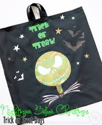 halloween totes nightmare before christmas trick or treat bags the scrap shoppe