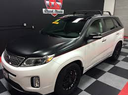 kia jeep 2015 kia sorento black vinyl application two toned car vinyl work