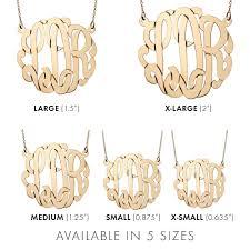 large monogram necklace gold vermeil monogram necklace s addiction