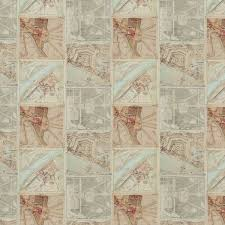 Map Fabric Gp U0026 J Baker Palace Maps Linen Original Fabric Bp10657 1