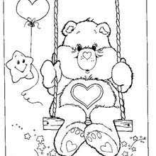 care bears bath coloring pages hellokids