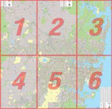 Sydney Map Sydney 6 Sheet Map Ubd Laminated Large Business Map Mapworld