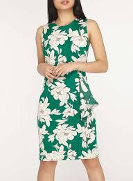 petite green floral print bodycon dress dorothy perkins united