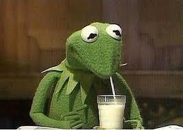 Kermit Meme Generator - kermit drinking milkshake meme generator