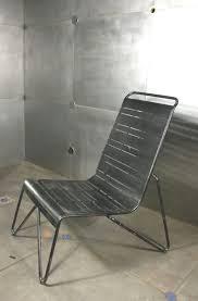 chaise en chaise en métal tubulaire noir lot