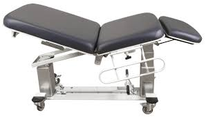 oakworks electric massage table electric examination table height adjustable on casters 3
