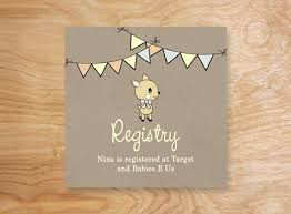 registry for baby shower baby shower registry cards 9171