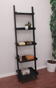 amazon com kiera grace hadfield 5 tier leaning wall shelf 18 by