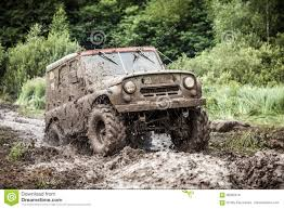 jeep mudding clipart custom built off road trophy uaz 469 passing mud pit editorial