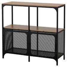 ikea industrial fjällbo shelving unit black 100x95 cm ikea