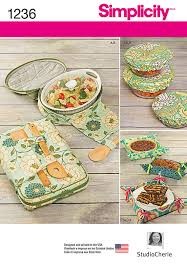 simplicity pattern 1236 casserole carriers gifting baskets and