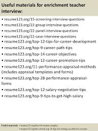 Teaching Resumes Samples by Top 8 Enrichment Teacher Resume Samples