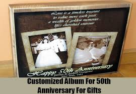 50th anniversary photo album 50th anniversary ideas for gifts top 10 gift ideas for 50th
