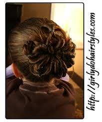 flower hair bun i can t wait until beans has hair this again i did this to a