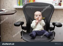 Infant Armchair Baby Boy Sitting On Office Chair Stock Photo 99544907 Shutterstock