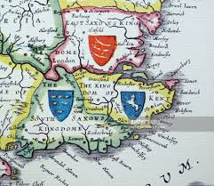 Map Of Kent England by Shields Of Sussex Kent And Essex From The Heptarchy A Collective