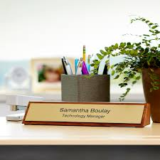 Name Tag On Desk Engraved Desk Signs U0026 Name Plates Vistaprint
