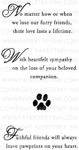 sympathy for loss of dog with sympathy loss of a pet mini st set papertrey ink clear