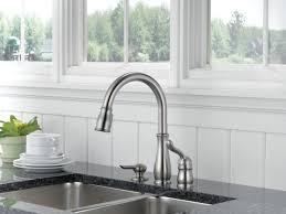 delta leland kitchen faucet satin nickel centerset delta leland kitchen faucet single handle