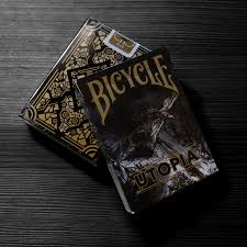 bicycle utopia black gold cards by card experiment runit