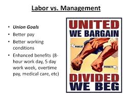 5 day work week aim what led to the rise of labor unions in the united states