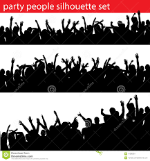 party silhouette party people silhouette set stock vector image 11036361