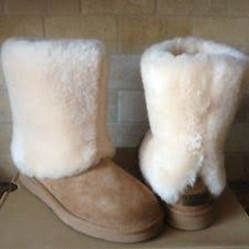 womens ugg patten boots ugg australia patten suede shearling boots chestnut us size 7