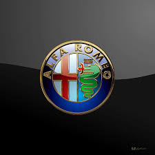alfa romeo emblem alfa romeo 3d badge on black digital art by serge averbukh