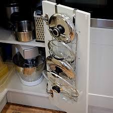 kitchen cabinet door pot and pan lid rack organizer door pot pan lid holder wall or door mounted kitchen cupboard saucepan storage rack chrome finish cabinet door organiser m w