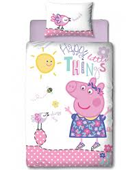 Peppa Pig Duvet Cover 100 Cotton Peppa Pig Happy Single Duvet Cover And Pillowcase Set Bedroom