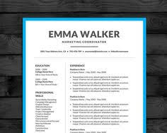 Resume Template For Pages Professional Resume Template For Word In Black U0026 White With