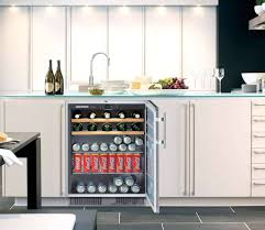 kitchen smart under kitchen island beverage center with double