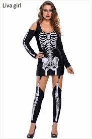 Ladies Skeleton Halloween Costume by Online Get Cheap 3d Skeleton Costume Aliexpress Com Alibaba Group
