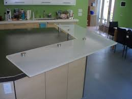 regular glass countertops brooks custom backpainted raised white glass countertop for a kitchen island