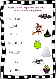 this scary night halloween song for kids english worksheets