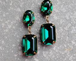 emerald green earrings green earrings etsy