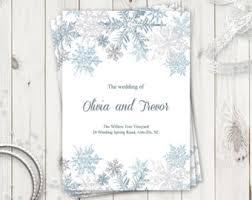 Christmas Wedding Programs Christmas Program Etsy