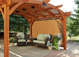 Pergola Material List by Sonoma 12 X 16 Ft Arched Wood Pergola Redwood Walmart Com