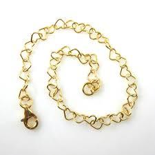 sterling silver bracelet with heart images Gold necklace gold bracelet gold anklet gold plated vermeil jpeg