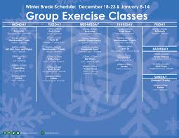 exercise schedule cus recreation