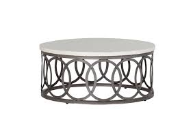 elegant round outdoor coffee table with modern and classic design