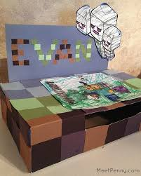 minecraft s day cards s day card boxes from cereal boxes meet