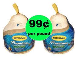 butterball turkeys on sale it s turkey time get butterball grade a frozen turkey 99 lb at