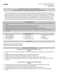 Sample Resume For Assistant Professor by Academic Advisor Resume Example And Tips Zipjob