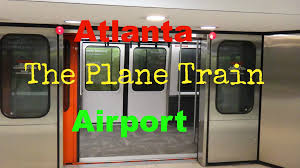 Atlanta International Airport Map by The Plane Train At The Hartsfield Jackson Atlanta International