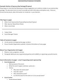 sponsorship presentation template sample sponsorship proposal